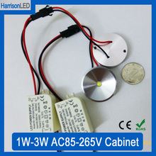 30x 1W 3W warm cool white LED under cabinet kitchen mini spot light AC85-265V utra thin surface mounted ceiling downlight