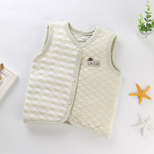 Newborn Baby Vest Soft Cotton Autumn Spring Baby Clothes Vests Baby Boy Girls Jacket Kids Clothes 0-5 years Baby Cotton Vest(China)