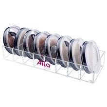 Здесь можно купить   2016 Hot Sale 8 Slots Flat Acrylic Powder Display Stand Desk Acrylic Lipstick Make-up Brush Cosmetics Case Display Holder Home Storage & Organization