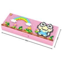 LOZ Frog pencil case blocks pokemon go Blocks educational toys Pikachu Charmander Bulbasaur Squirtle Mewtwo anime Toys