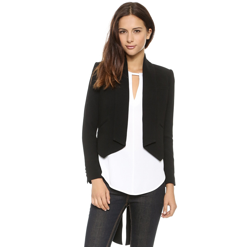 2015 Women's Fashion Classic dove tail suit jacket small ...