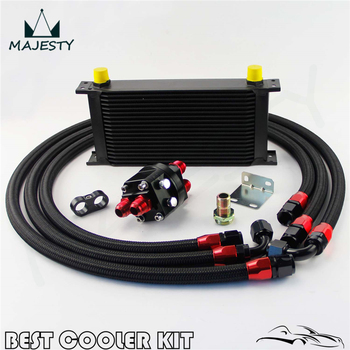19 ROW AN-10AN UNIVERSAL ENGINE TRANSMISSION OIL COOLER BK+FILTER RELOCATION KIT