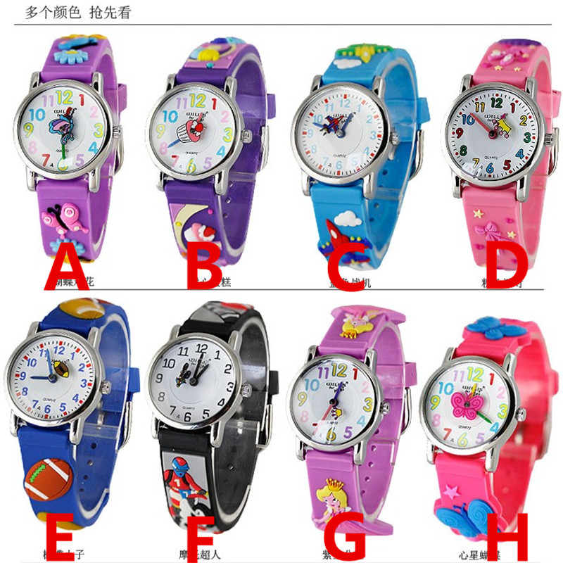Top selling children 3D cartoon pattern silicone strap quartz wristwatches for kids new dress gift watch with japan movementTop selling children 3D cartoon pattern silicone strap quartz wristwatches for kids new dress gift watch with japan movement
