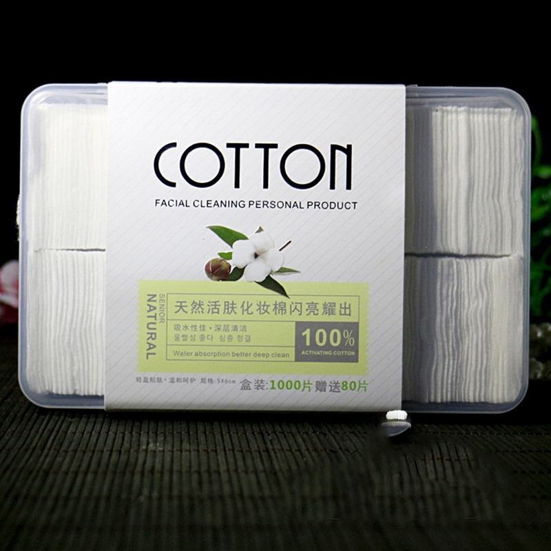 все цены на 1000Pcs/Set Cotton Makeup Cotton Wipes Soft Makeup Remover Pads Facial Cleansing Paper Wipe Skin Care Remove With Retail Packing онлайн