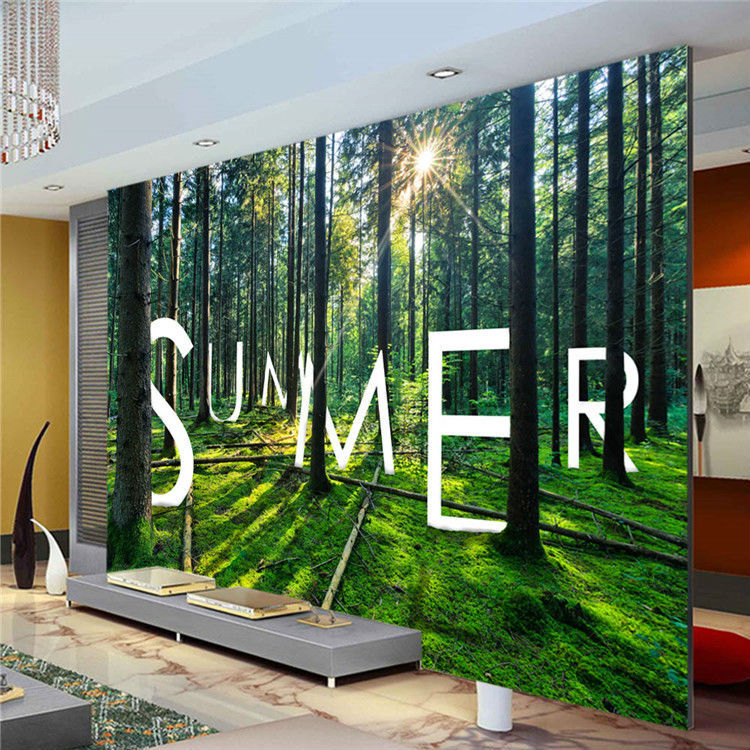 Nature woods trees photo wallpaper custom 3d wall mural for Nature wallpaper for bedroom