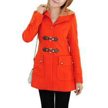 Casaco Feminino Women Coat Coat New Winter Women Woollen Cap England & Blends Dress Clothing Outerwear Female Jacket