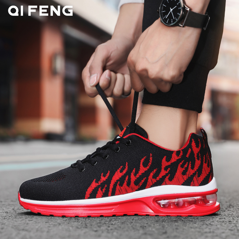 2019 New Arrival Men Outdoor Fashion Sports Shoes Student Fashion Running Air Cushion Running Sneakers Student
