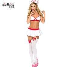 JiaHuiGe Hot Erotic Lingerie Sexy Nurse Costume Cosplay Uniforms Women for