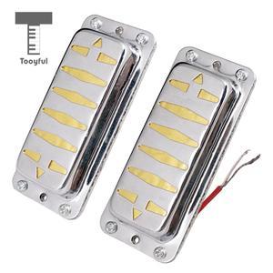 Tooyful 2 stücke Doppel Coil Humbucker Pickups Neck & Bridge Pickups für Elektrische Gitarre Ersatz Teile