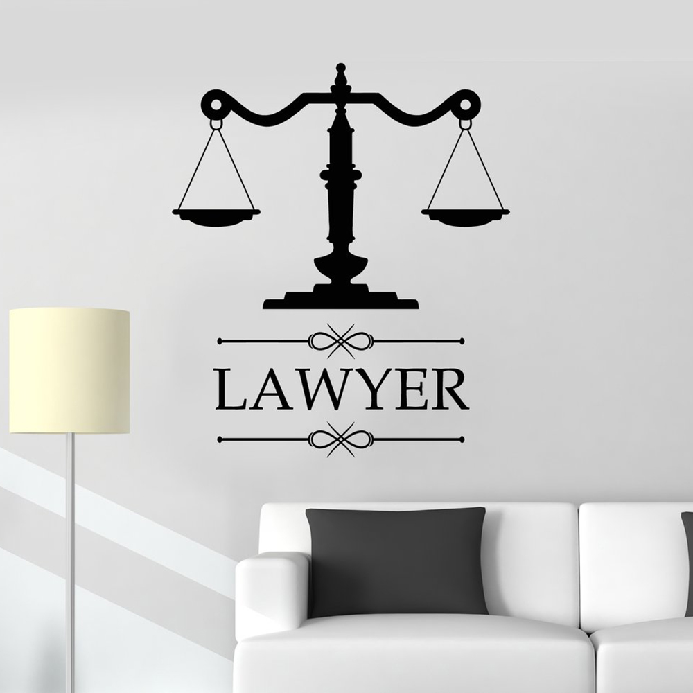 Law Office Sign Lawyer Attorney Office Vinyl Decal