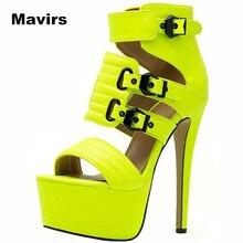 Mavirs Fashion women ladies girls students princess  wedding bridal High Heel Platform Buckle Sandals shoes