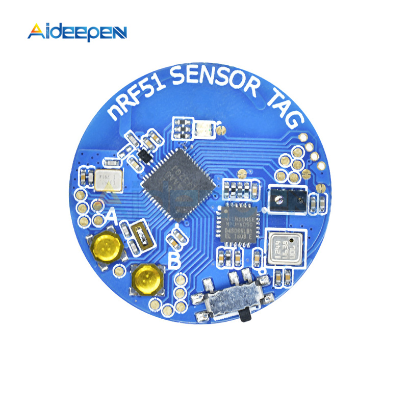 NRF51802 Bluetooth 4.0 SOC Temperature Atmospheric Pressure Acceleration Sensor Module Gyroscope Light Sensor Replace NRF51822