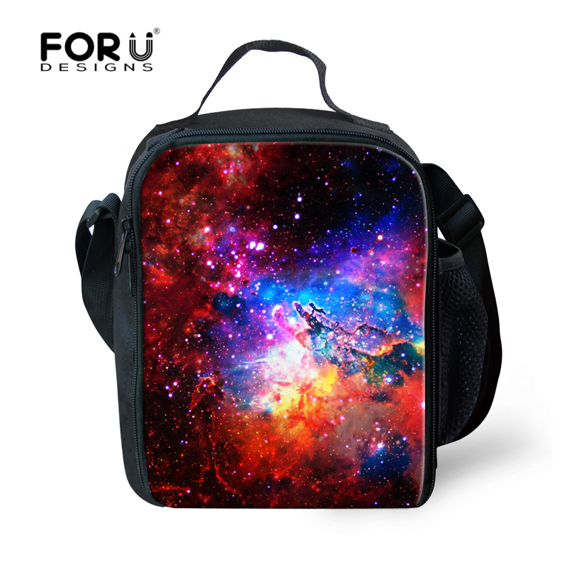 New Harajuku Children Insulated Lunch Bag Galaxy Star Universe Portable Bolsa Termica For Teenagers Students Tourism Lunch Box