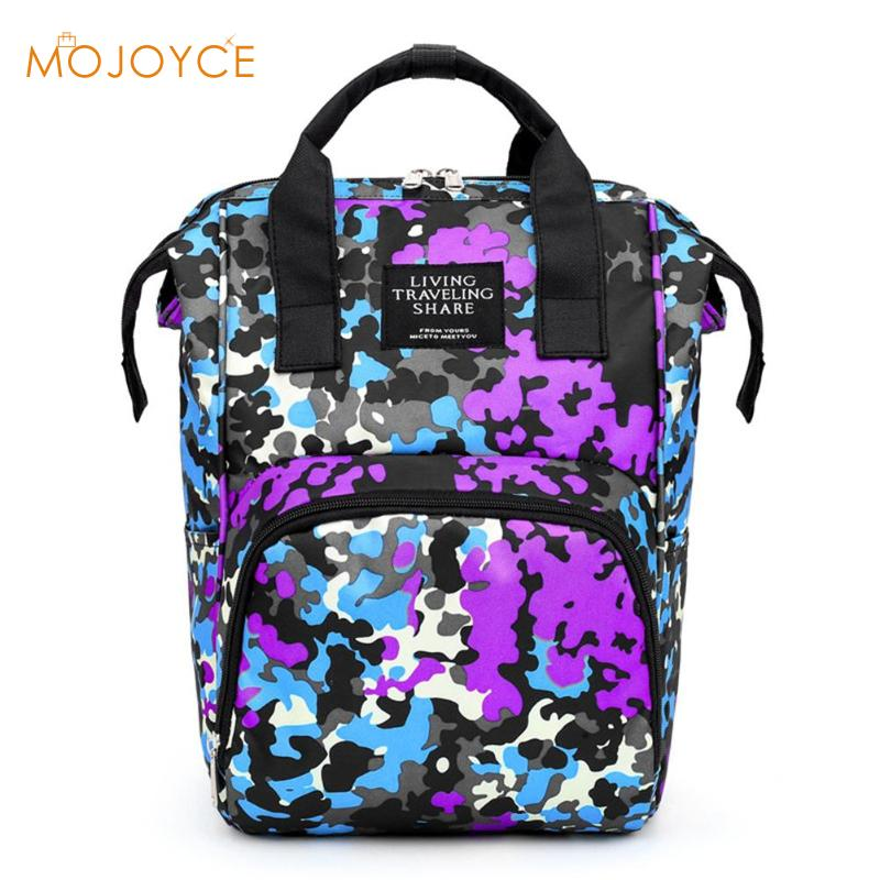 Waterproof Print Mommy Travel Backpacks Big Maternity Nappy Top-handle Bags Fashion Travel Backpack Baby Care Bag for Mother Kid