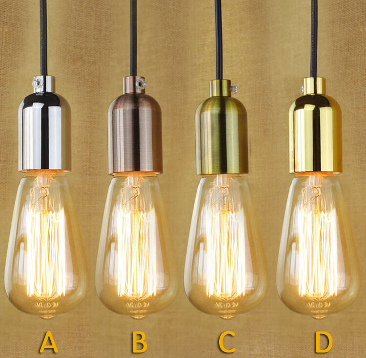 Single Head Pendant Light Luminaire Simple Style Industrial Vintage Restaurant Study Bar Cafe Bedroom Decor Lamp Free Shipping