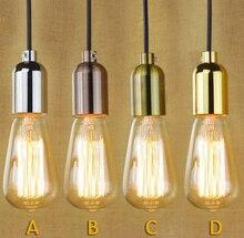 Одной головы подвесной светильник простой Стиль промышленных Винтаж ресторан исследование кафе Украшения в спальню лампы Бесплатная доставка