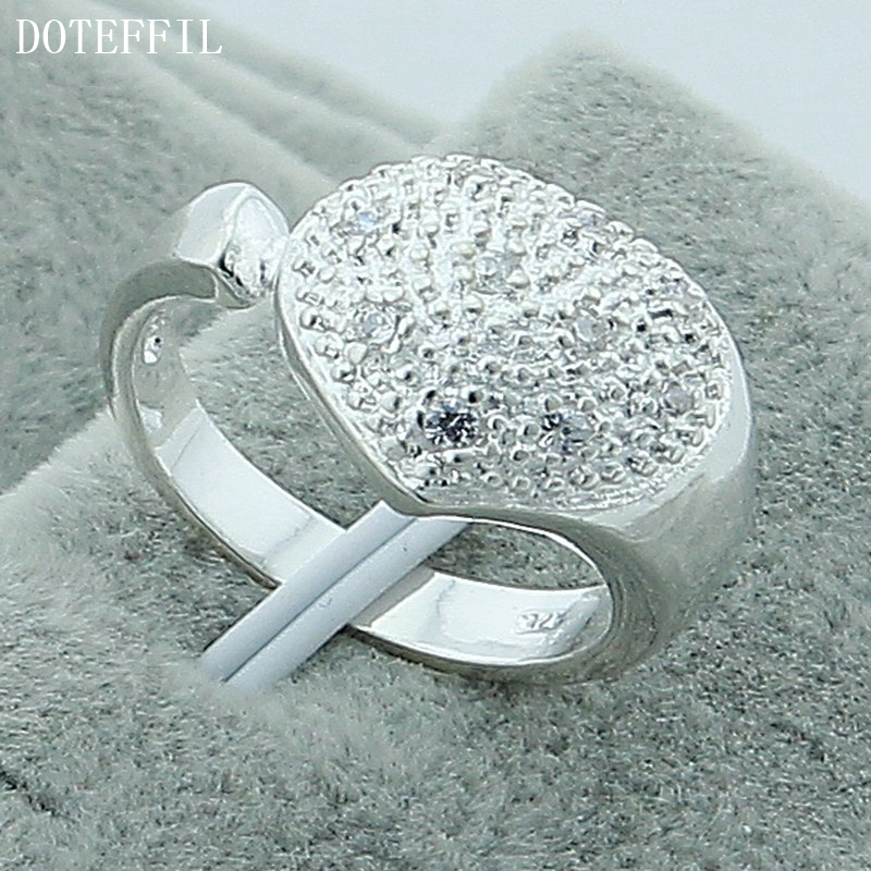 Hot New Lovely Silver Ring Jewelry Fashion Charm Women Married Miss Shi High Quality Sil ...