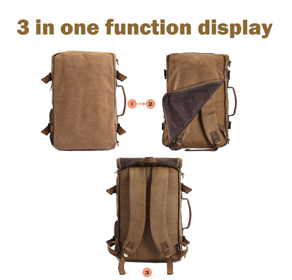 Marke Stilvolle Reise New vintage rucksack canvas backpack leisure travel schoolbag unisex laptop backpacks men backpack male 9