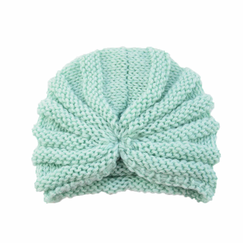 a3eccf9fde1 ... TELOTUNY Baby hat Toddler Girls Boys winter knitted warm hat turbna  Infant Warm Winter Knit Beanie