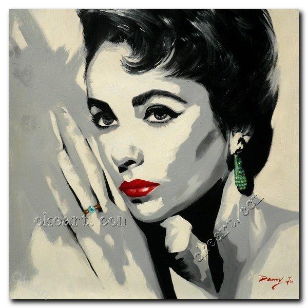 Captivating Elizabeth Taylor Portrait Sexy Pop Art Prints On Canvas 12x12 Inch Photo