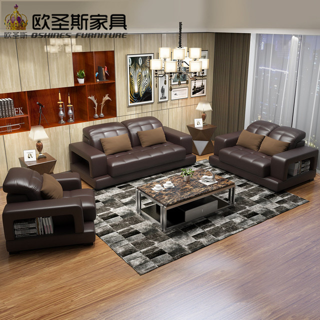 2017 New Design Italy Modern Leather Sofa ,soft Comfortable Livingroom  Genuine Leather Sofa ,real Part 52