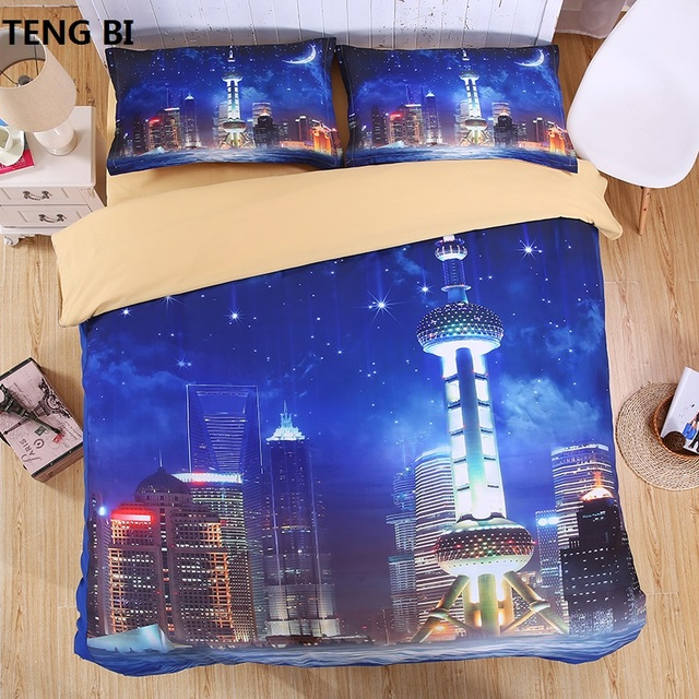 night sky Hipster Galaxy 3D Bedding Set Print Duvet cover set Twin queen king Beautiful pattern Real effect lifelike bed sheet