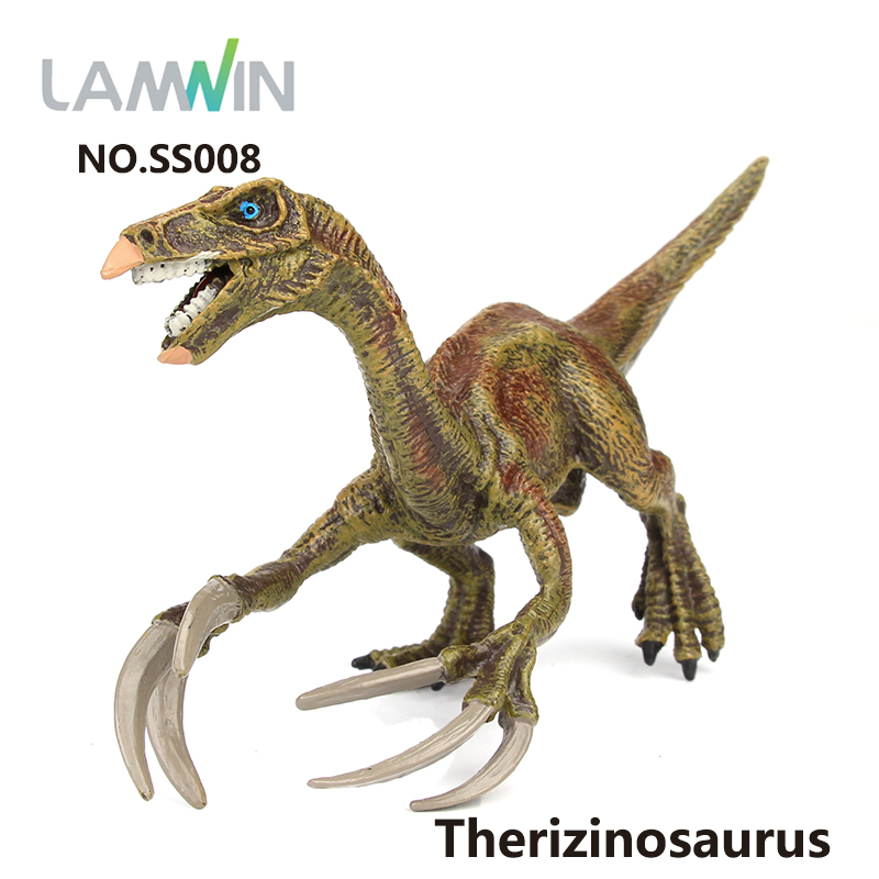 Lamwin Small Size Solid Therizinosaurus Model Toy Dinosaur PVC Plastic Action Figure Realistic Dinossauro Gift lamwin 6pcs lot large dinosaur toy collection set jurassic world park hollow model figure free gift dinossauro egg