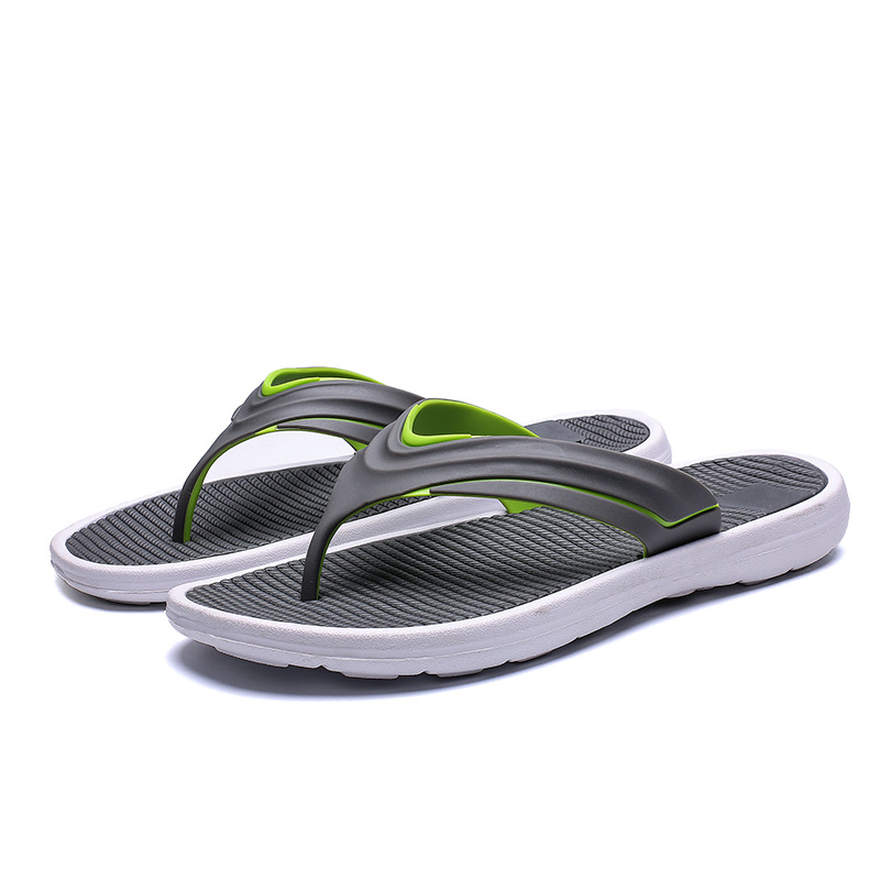 Men Beach Flip Flops 2019 Summer Flat Shoes Comfortable Slip-on Male Fashion Sandals Non-Slip Sole Mens Casual Slippers SH022807