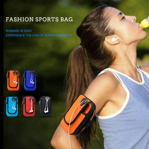 Bag Pouch-Holder Exercise Sports for Cell-Phone Armband Case Running-Bags Shock-Absorber