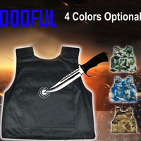 Hard Stabproof Vest Outdoor Tactical Vests Stab Proof Clothing Anti Cut Personal Self Defence Safety Tungsten Steel Iiner Plate