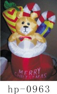 Надувной Рождественский Санта Клаус Снеговик Декоративный Рождественский олень для дома детские игрушки надувные рождественские игрушки - 5