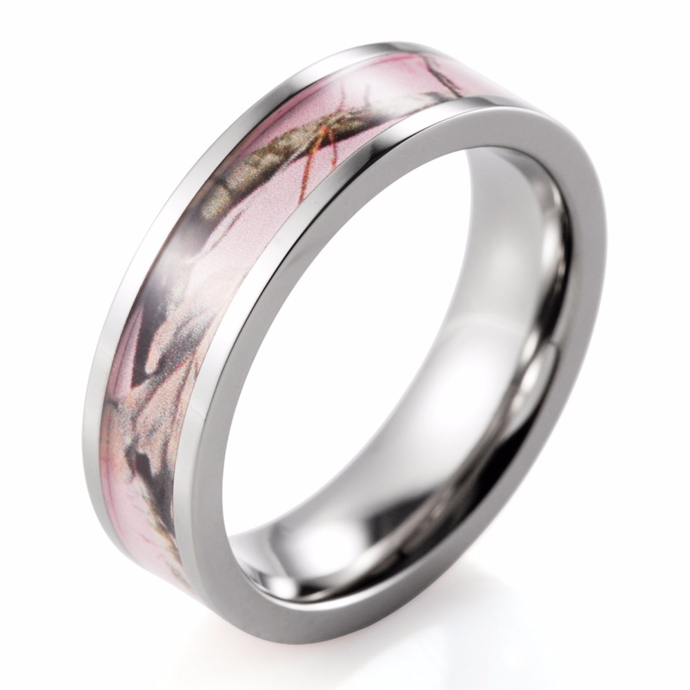 Aliexpresscom Buy SHARDON Women Ring Titanium Pink Real tree Camo