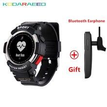 F6 Relógio Bluetooth Inteligente Relógio Inteligente IP68 À Prova D' Água GPS Relógio Inteligente Sono Monitores Câmera Remota Relógios para Homens Esportes Ao Ar Livre
