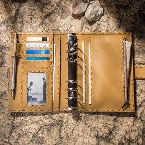 Image 3 - Capa de couro de vaca genuína retro viajante caderno diário diário vintage caderno de viagem artesanal