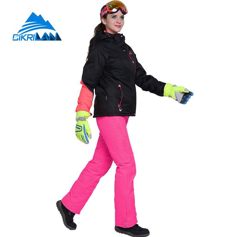 22efc261da Aliexpress.com   Buy New Windproof Waterproof Skiing Snowboarding Cotton  Padded Jacket Snow Pants Set Women Outdoor Winter Sport Snowboard Ski Suit  from ...