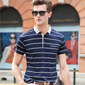 New high quality men polo shirt 2017 summer  striped polo Men casual brand  solid polo shirt  man  polo t