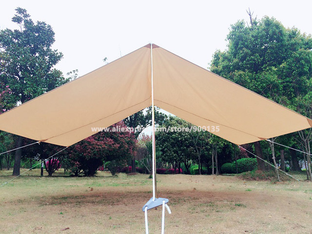 The photos equiped with bell tent. front awning 05 800x600 & Online Shop Beige Cotton Canvas Awning Shelter for Camping Bell Tent ...