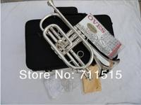 Bb Trumpet B The Cornet Trumpet Instrument Surface Silver Plating Trompeta Play Music Instrument cornet Trumpete