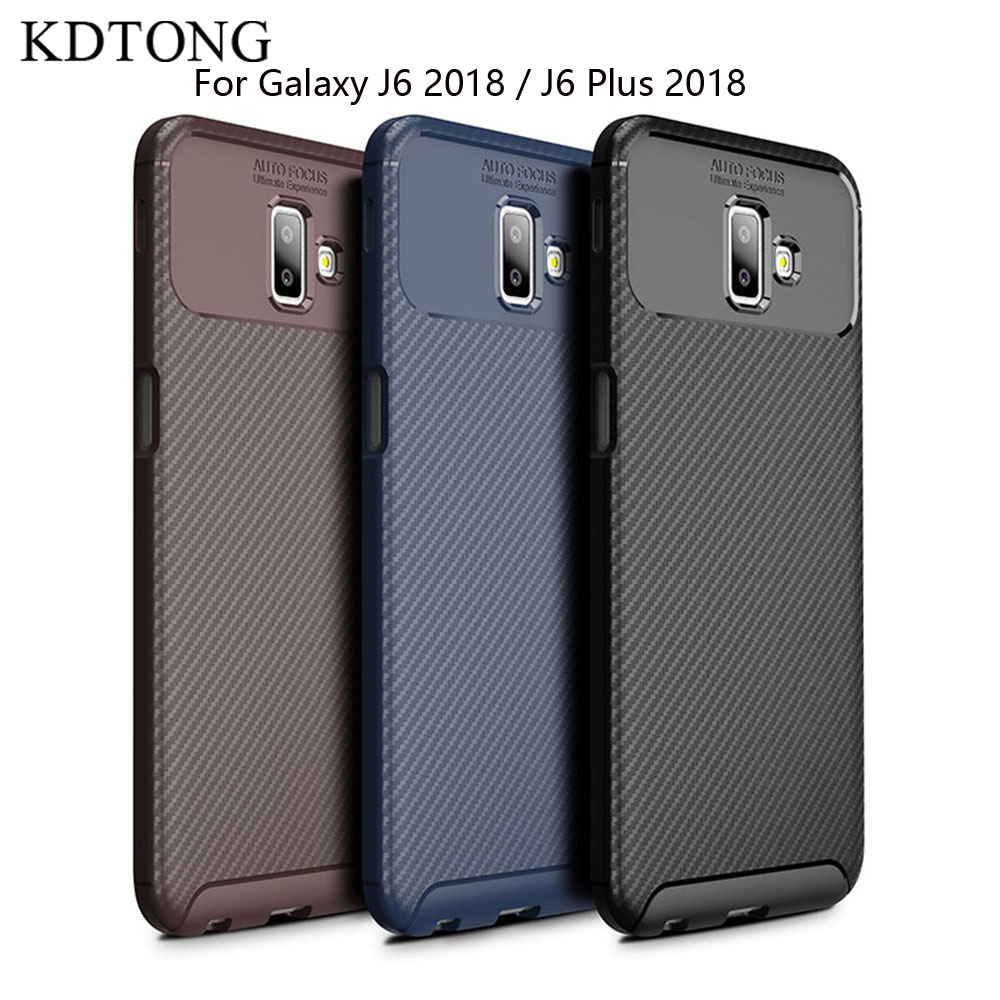 KDTONG Case For Coque Samsung Galaxy J6 Plus 2018 Case Vintage Soft Silicone Shockproof Cover For Galaxy J 6 J6 2018 Case Cover