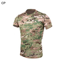 Tactical Military 4 Color Style Men T-Shirt BDU Cloth Camouflage Quick Dry T-shirt For Outdoor Hunting Sports PP 34-0069