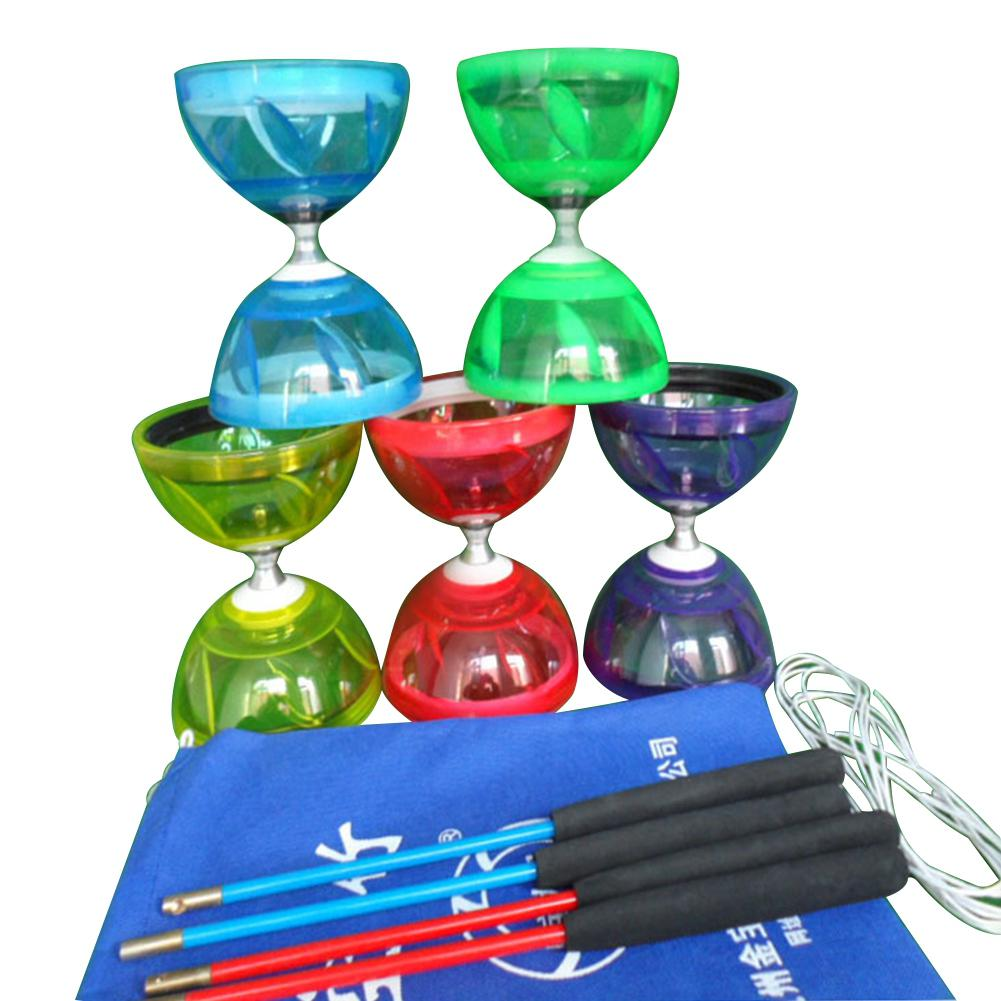 LeadingStar Crystal Transparent Bearing Yoyo Diabolo with Hand Sticks String Juggling Classic Toys Interesting Game Kids Toys ...