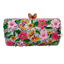 LaiSC New Oil craft handmade crystal evening bags Luxury diamond women clutch bag party pochette wedding purse bride bags SC211