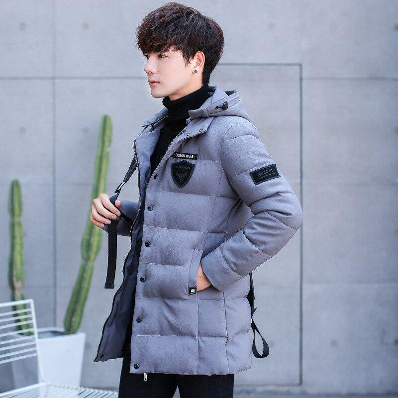 Fashion Lightweight and sleek men's winter jackets autumn and winter trend short interior cotton velvet warm men's jacket