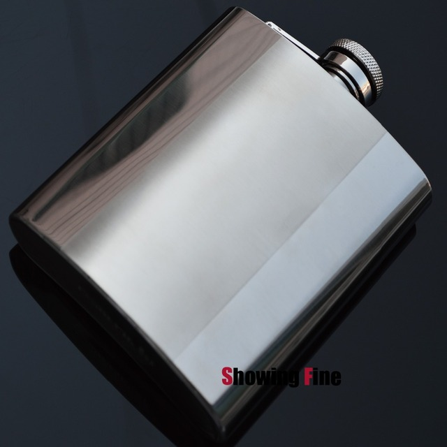 New 8OZ  8-18 Stainless Steel vintage whisky drink alcohol liquor flask hip wine pot flagon  with flannel bag package