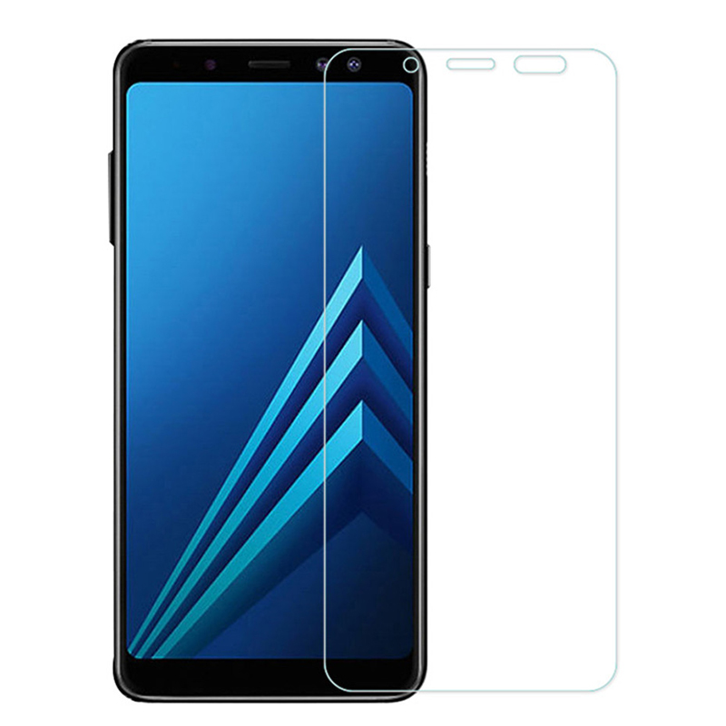 Samsung galaxy A6 A8 PLUS screen protector Samsung A3 A5 A7 2017 2018 tempered glass on samsung A9 star lite protective glass