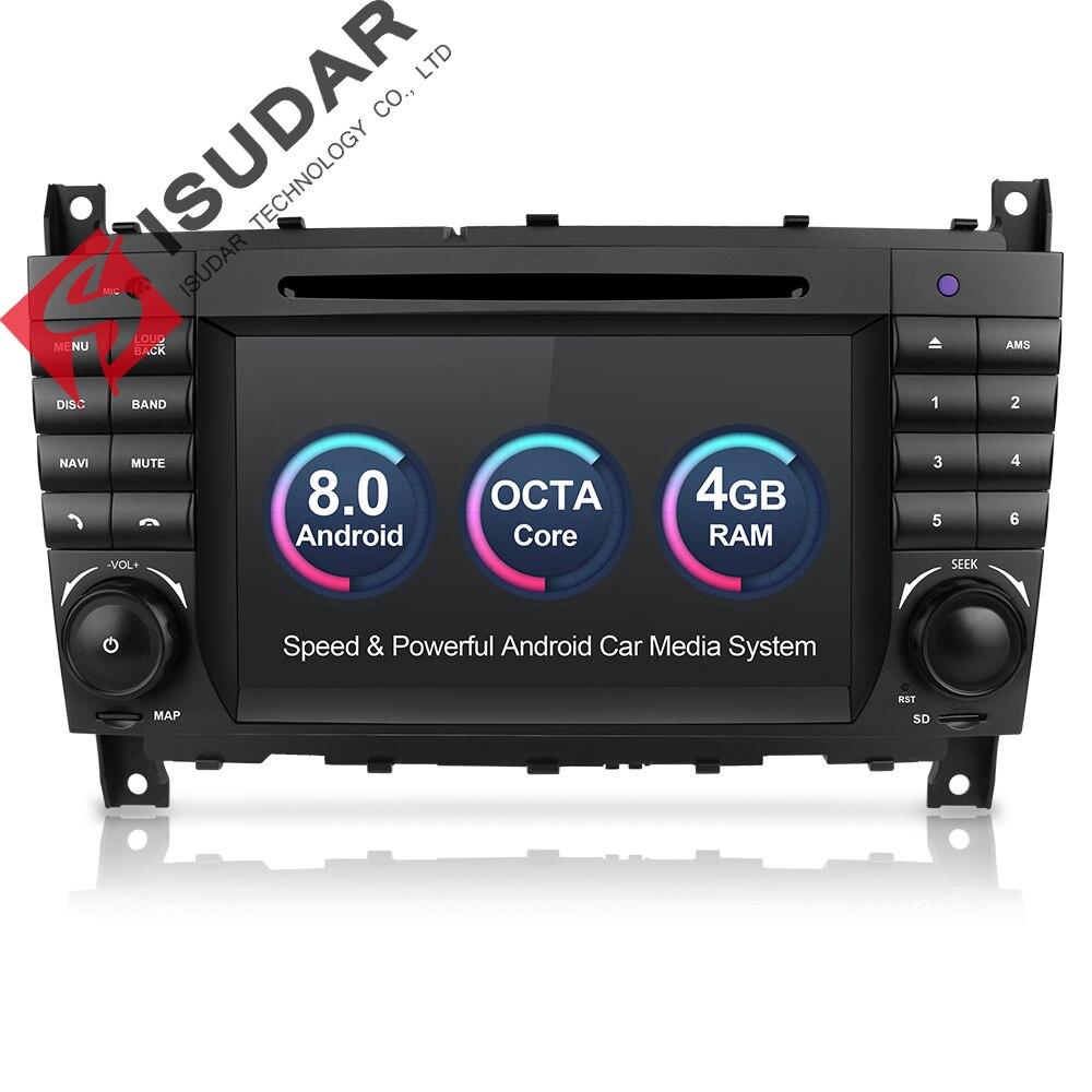 Isudar lecteur multimédia De Voiture GPS Android 8.0 Autoradio Pour Mercedes/Benz/Sprinter/W203/A180/Viano/ vito/Un-classe Radio FM DSP DVR