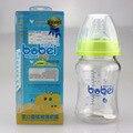 Nova cute baby 150 ml garrafa de vidro-alimentados com as crianças aprendem a beber garrafas de suco palha palha criança formação de processamento automático