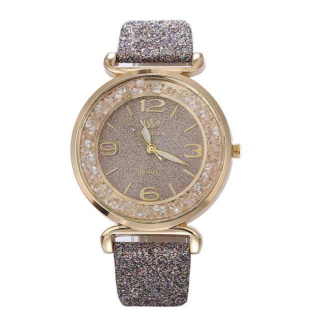 Gray Fashion Women 2018 Best Selling Watch Luxury Crystal Rhinestone Stainless S