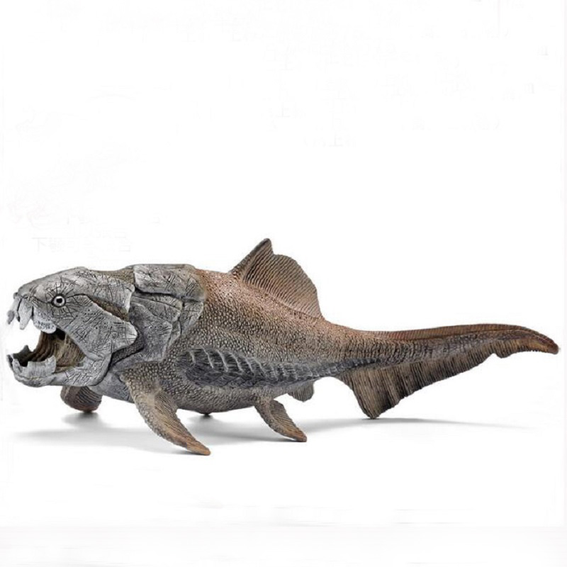 High Simulation Dunkleosteus Sea Life Dinosaur Toy Jurassic Park Ancient Creatures Model Brinquedos Kids Cartoon Birthday Gift mr froger carcharodon megalodon model giant tooth shark sphyrna aquatic creatures wild animals zoo modeling plastic sea lift toy