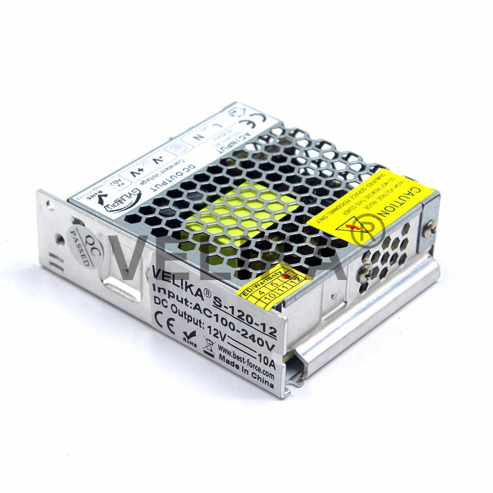 Ультра-тонкий DC12V 120 W Питание переключения драйвера 110 220 AC DC 12 В импульсный источник питания для Светодиодные ленты модули освещение лампа CCTV AV принтер